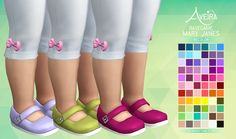 Basegame Mary Janes - Recolor • 66 Colors • Standalone & Custom Thumbnail • Toddler only Download Links under the cut! [[MORE]]DOWNLOAD: SimFileShare | Mediafire