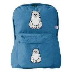 Persian Bicolour Cat Cartoon American Apparel™ Backpack