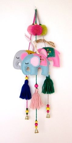 Cute elephant tassels