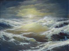 """Dmitriev George,  """"The moon and the sea"""",  www.art-helicon.ru/eng/asp/artist/art99.asp"""
