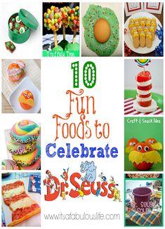 10 Fun Foods to Celebrate Dr. Seuss