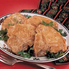 Chicken-Baked Chops Recipe Main Dishes with bone-in pork chops, vegetable oil, condensed cream of chicken soup, water, worcestershire sauce, salt, pepper