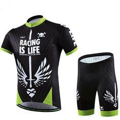 CHEJI Men's Black Cycling Jersey Set Roupa Ciclismo Bike Short Sleeve Cycling Clothing Bicycle Outdoor Sportswear S-3XL #Affiliate