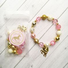 Excited to share the latest addition to my #etsy shop: 8 - Unicorn Pink & Gold DIY Bracelet Birthday or Slumber Party Activity Pink and Gold Birthday DIY http://etsy.me/2AHtGJm #pink #birthday #gold #braceletpartyfavor #unicornbirthday #unicornpartyfavor #unicornparty