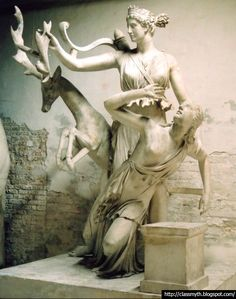 Iphigenia is saved from her own sacrifice by the Goddess Artemis