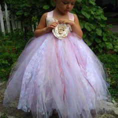 Pink Tulle Flower Girl Dress - sizes 6 - 9 girls