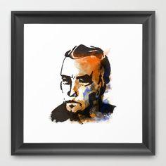 A Man Framed Art Print by Subcon - $32.00