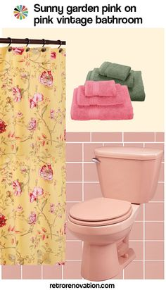 13 Ideas To Decorate An All Pink Tile Bathroom