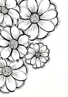 Doodle Flowers By Candy