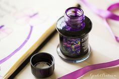 Monday Matchup #49: Parker IM Premium Fountain Pen Pink Pearl Medium with De Atramentis Violets