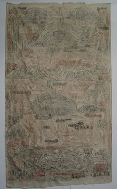 Art In Stitches: October 2011 ... Collage of grave rubbings on silk made from dozens and dozens of markers in the Circular Churchyard