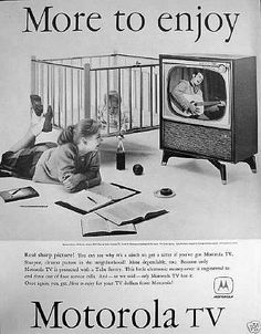 "This 1958 ad suggested that getting a sitter would be ""a cinch"" with a Motorola TV in the house"