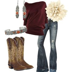 I'm not crazy about cowboy boots, but this looks so pretty and comfy!
