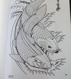 oriental tattoo art - Поиск в Google Sashiko Embroidery, Japanese Embroidery, Embroidery Patterns, Koi Art, Fish Art, Japanese Back Tattoo, Rune Tattoo, Tattoo Art, Carpe Koi