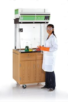 Mobile Fume Hood Station that handles liquids, gases and solid chemicals- does not require ducting!