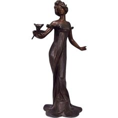 Art Nouveau Maiden Sculpture Julien Causse