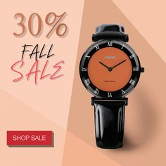 Shop your holiday gifts or do yourself some good. We've dropped the price on a wide range of carefully selected watches by -30%.