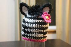 ZOEY Zebra and ZANE Zebra Crochet Hat Pattern by EmieGraceCreations.etsy