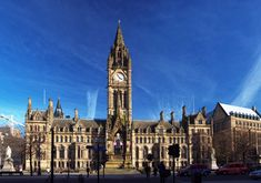 The Manchester Town Hall.