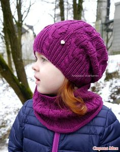 "Шапка и снуд ""Tulpen"" + описание ОпубРKnit Beanie Hat, Crochet Beanie, Knit Crochet, Crochet Baby Hat Patterns, Crochet Baby Hats, Hand Knitted Sweaters, Knitted Gloves, Handgestrickte Pullover, Knitting Accessories"