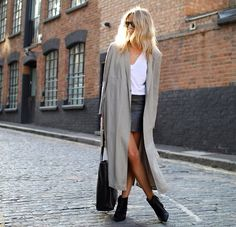Throw a trench over your outfit for chillier days.