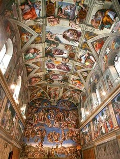 Sistine Chapel - Very cool virtual tour with music at  http://www.vatican.va/various/cappelle/sistina_vr/index.html