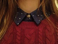 Collars are so amazing ! They make virtually any sweater a little bit classier ;D ( not to mention cuter)