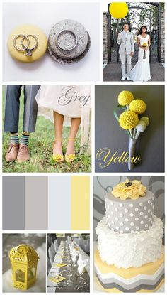 Grey & Yellow: Wedding Inspiration - Want That Wedding Spring Wedding Decorations, Spring Wedding Colors, Purple Wedding, Wedding Themes, Dream Wedding, Wedding Blog, Wedding Ideas, Wedding Colours, Wedding Cake