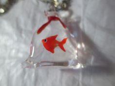 Cutest Fish Pendant Necklace Orange Gold Fish in by KulturePop, $23.00