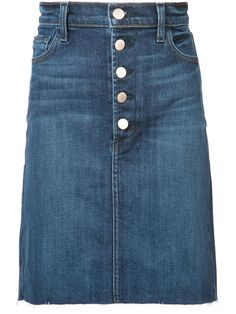 J BRAND Roleen Denim Skirt. #jbrand #cloth #skirt