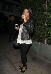 Toni Braxton: at Giorgio Baldi restaurant in Santa Monica