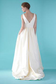 wedding dress..v neck gown with hidden pockets..Love