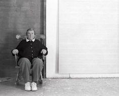 Agnes Martin in her studio New Mexico