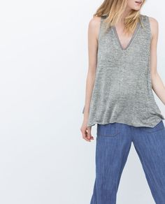 ZARA - COLLECTION AW15 - T-SHIRT WITH EDGING DETAIL