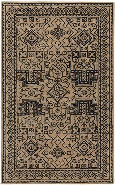 Velvet Graphic Moonstone Rectangle Rug