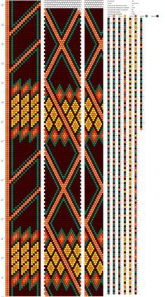 18 around bead crochet rope pattern Crochet Beaded Necklace, Beaded Necklace Patterns, Beaded Wrap Bracelets, Beaded Crochet, Bead Crochet Patterns, Bead Crochet Rope, Beading Patterns, Loom Bracelet Patterns, Seed Bead Jewelry
