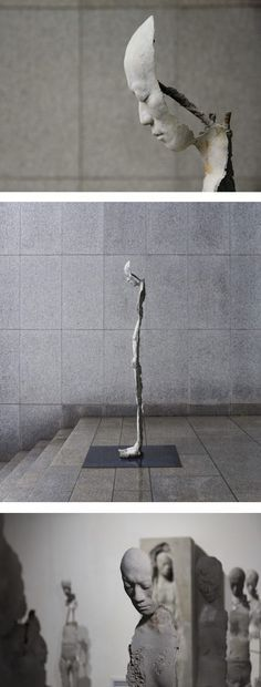 Life-sized sculptures by Park Ki Pyung // sculpture art // emotional sculpture