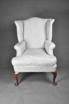George II Cabriole leg Walnut Wing Armchair