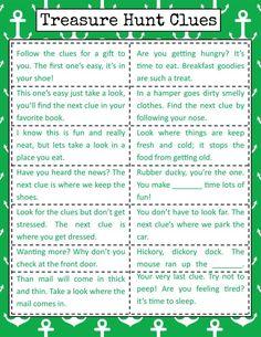 Bramble Box Clue Inspiration Sheet