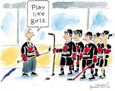 advice for team Canada's men's hockey team, from team Canada's women's hockey team :)