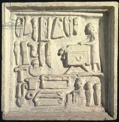 A Cutler's Shop, Relief, Roman, 2nd century (stone). Museo della Civilta Romana, Rome, Italy / Roger-Viollet, Paris