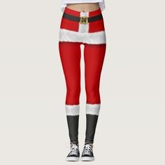 Red Santa Suit Mrs Claus Christmas Costume Festive Leggings - tap to personalize and get yours #Leggings #mothersdaisy #costume #santa #claus #suit Red Leggings, Leggings Fashion, Christmas Costumes, Halloween Costumes, Santa Suits, Mrs Claus, White Fur, Look Cool, Dressmaking