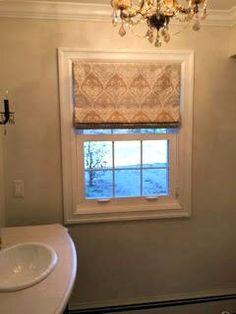 A beautiful and soft pattern for a straight fold roman shade. #romanshades #windowtreatments