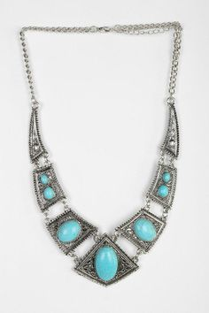 Turquoise Engraved Necklace #urbanoutfitters