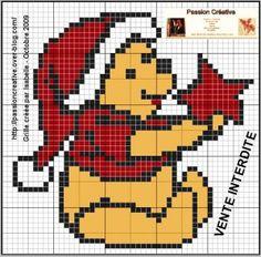 Grille gratuite point de croix : Récapitulatif Winnie l'ourson et ses amis - 2009-2010-2011-2012