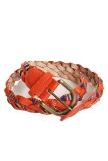 $13 coral and serape print belt