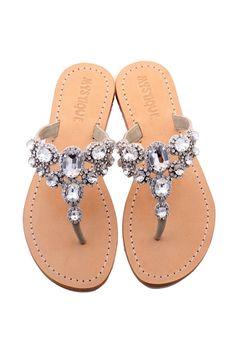 Huntington Beach - Silver Sandals