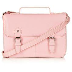TOPSHOP Edge Paint Satchel ($56) ❤ liked on Polyvore featuring bags, handbags, accessories, purses, bolsas, pink, pale pink, pale pink handbag, purse satchel and satchel hand bags