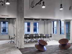 Expedia's San Francisco global headquarters by Rapt Studio feature Herman Miller's Eames Aluminium Group Chairs.