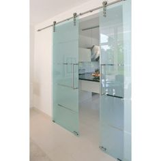 We offer sliding glass door hardware that accommodate your selection of interior sliding glass doors including frosted, colored, and frameless styles of glass doors. Glass Barn Doors, Sliding Glass Door, Sliding Doors, Entry Doors, Etched Glass Door, Frosted Glass Door, Sliding Door Design, Sliding Door Hardware, Modern Closet Doors